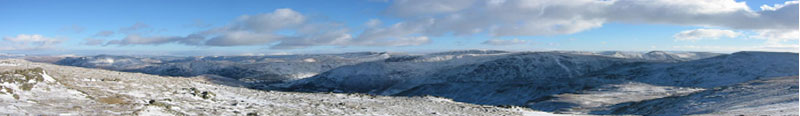 Cumbrian Fells in winter